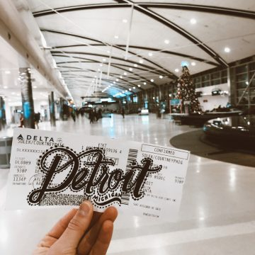 Plane Ticket Hand Lettering