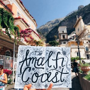 Amalfi Coast Lettering