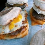 Copycat McDonald's Sausage and Egg Breakfast Sandwiches