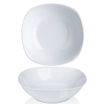white ceramic bowls with white background