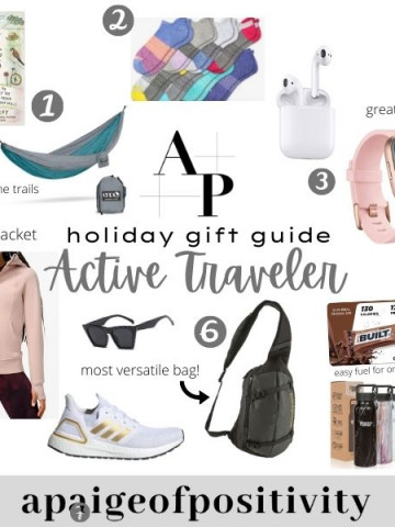 collage of all gift ideas on a poster with small captions and numbers