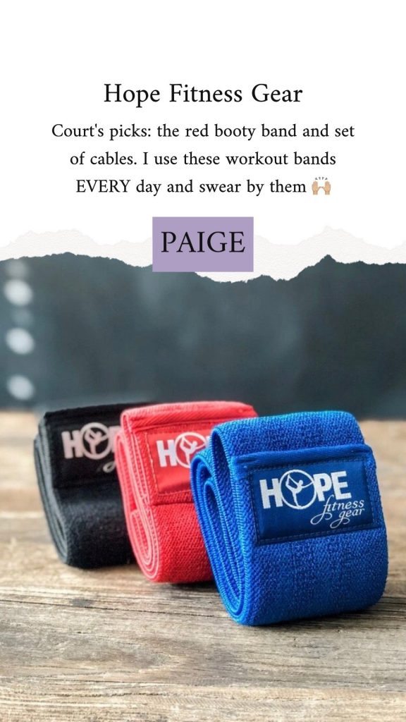 butt bands with a promo code labeled PAIGE
