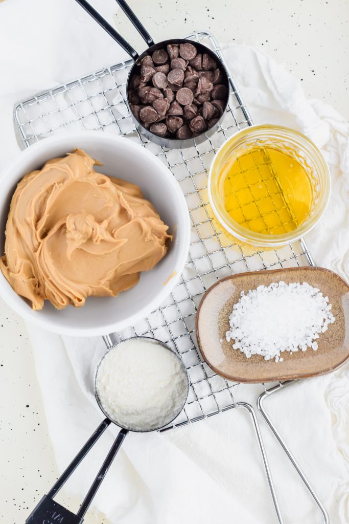 ingredients for Healthy Peanut Butter Truffles