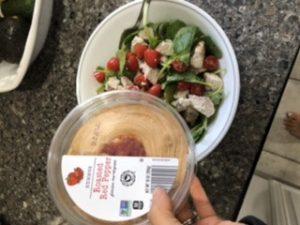 Recipe remake featuring mediterranean salad