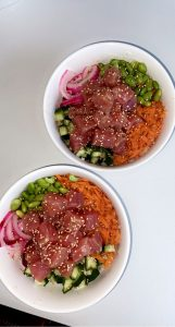 two Homemade Poke Bowls from user
