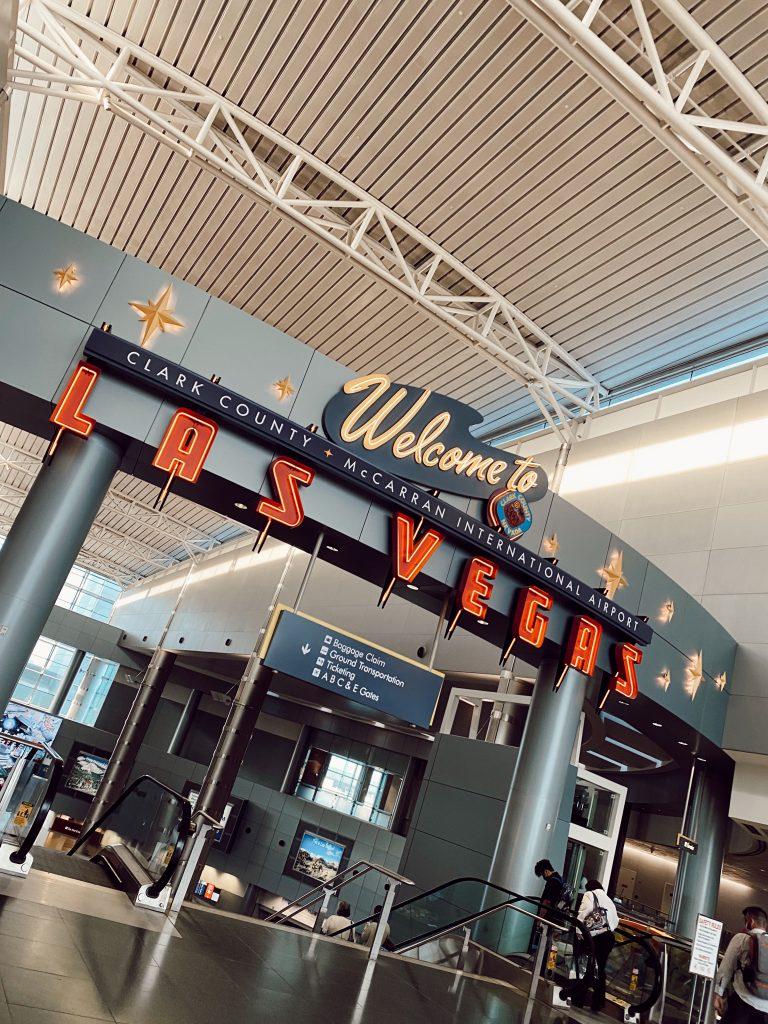 airport sign in Las Vegas, Nevada