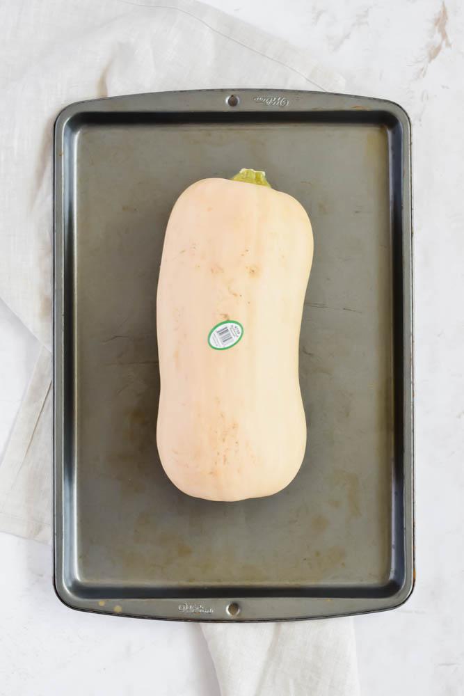 butternut squash on sheet pan