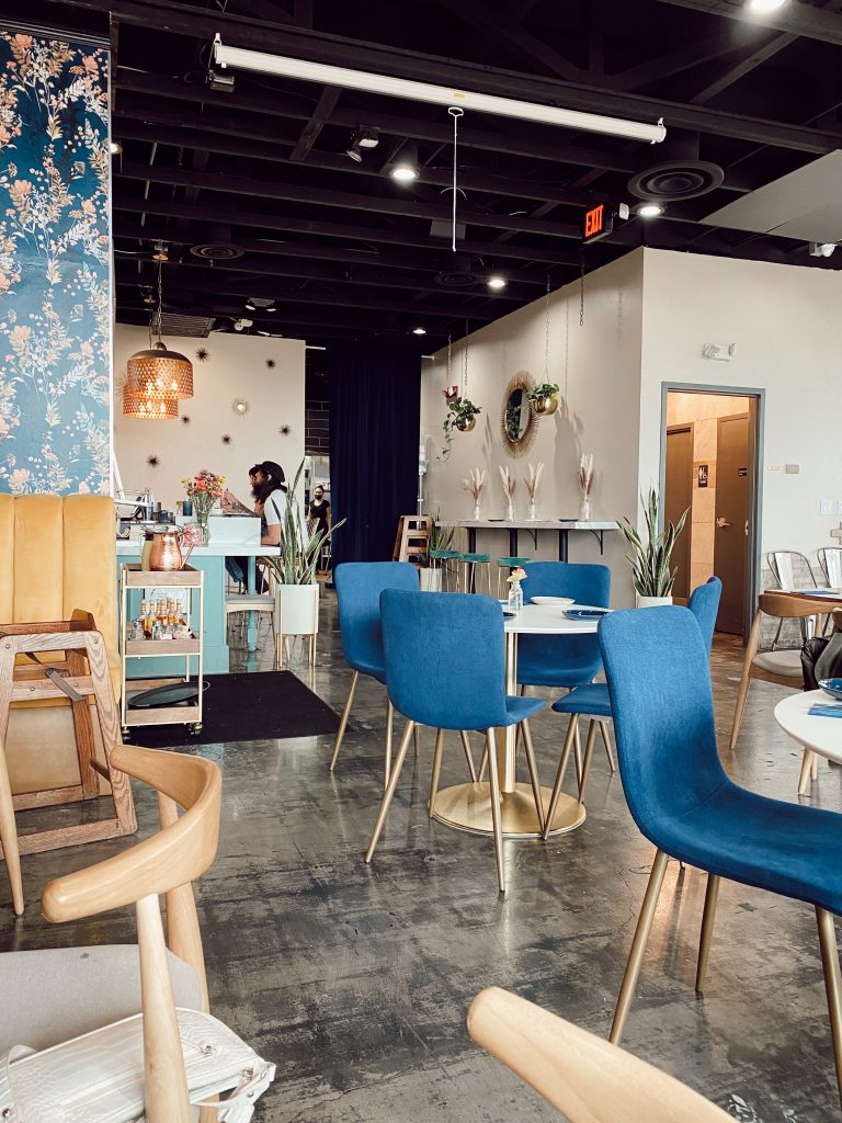 beautiful midcentry modern interior of a restaurant